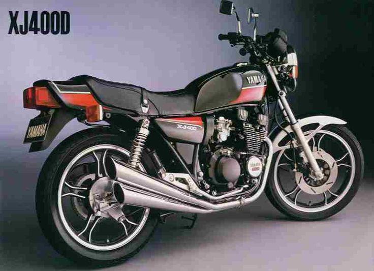 〔ヤマハ〕【XJ400】 1980-1984 空冷4ストローク2バルブDOHC直列4気筒 最高出力 45ps/10,000rpm ・通称「ペケジェイ」 ・ネイキッドブームにより後継車種XJR400が作られる