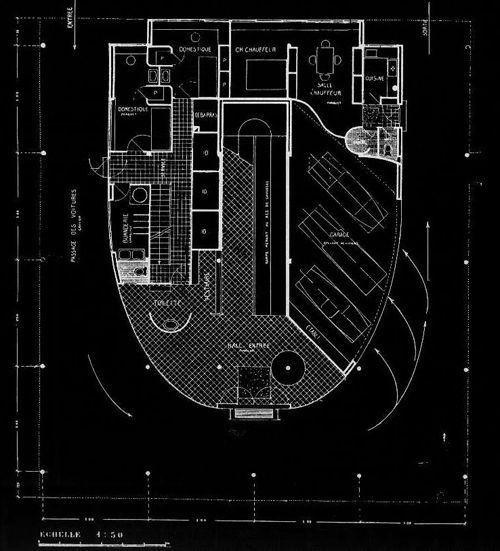 Villa Savoye - Le Corbusier Planos 01