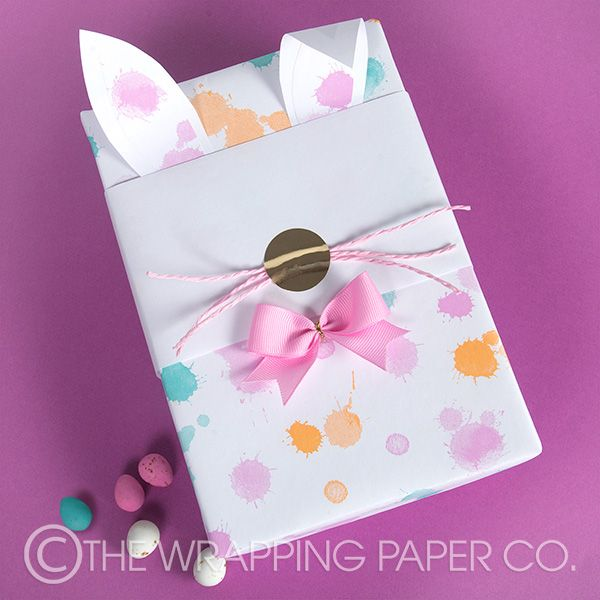 11 best easter gift wrapping images on pinterest easter gift wrap simple wrapco easter gift wrapping present is wrapped with eco gelati splash wrap and a negle Image collections