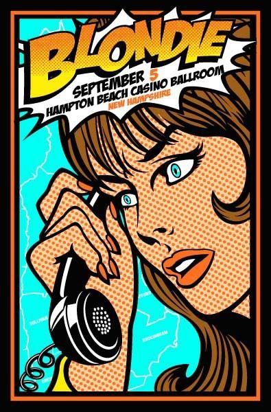 Blondie gig poster by swampyankee
