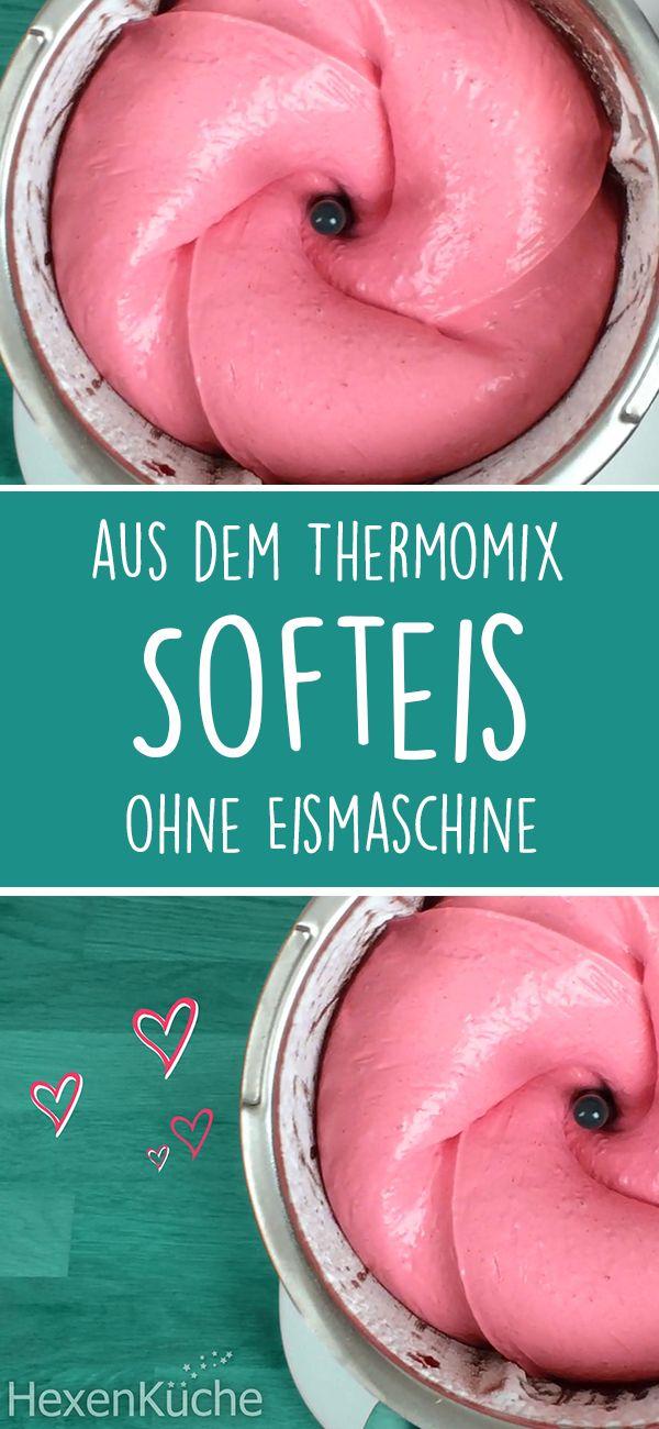 Softeis schnell & einfach aus dem Thermomix. Sehr Kalorienarm.