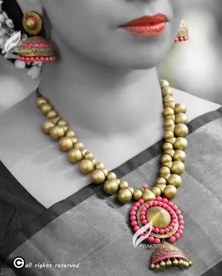 Hand Made Terracotta Jewlery - prakrithi creations Women jewellery