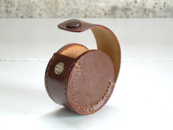 Cuir Vintage oreille bourgeon cas écouteur transporteur titulaire de casque