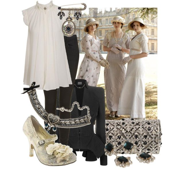 Downton Abbey to Street, created by vikkyru on Polyvore