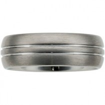 Satin Grooved Domed Band