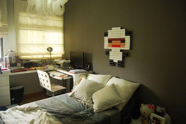 Menő pixelkép házilag WC papír gurigából
