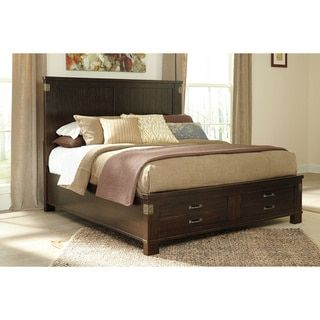 shop for signature design by ashley haddigan dark brown storage bed get free shipping at
