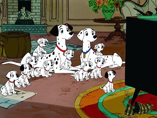 101 Dalmations: Pongo, Perdita, Princess, Duchess, Patch, Rolly, Lucky, Penny, Rover and Spotty