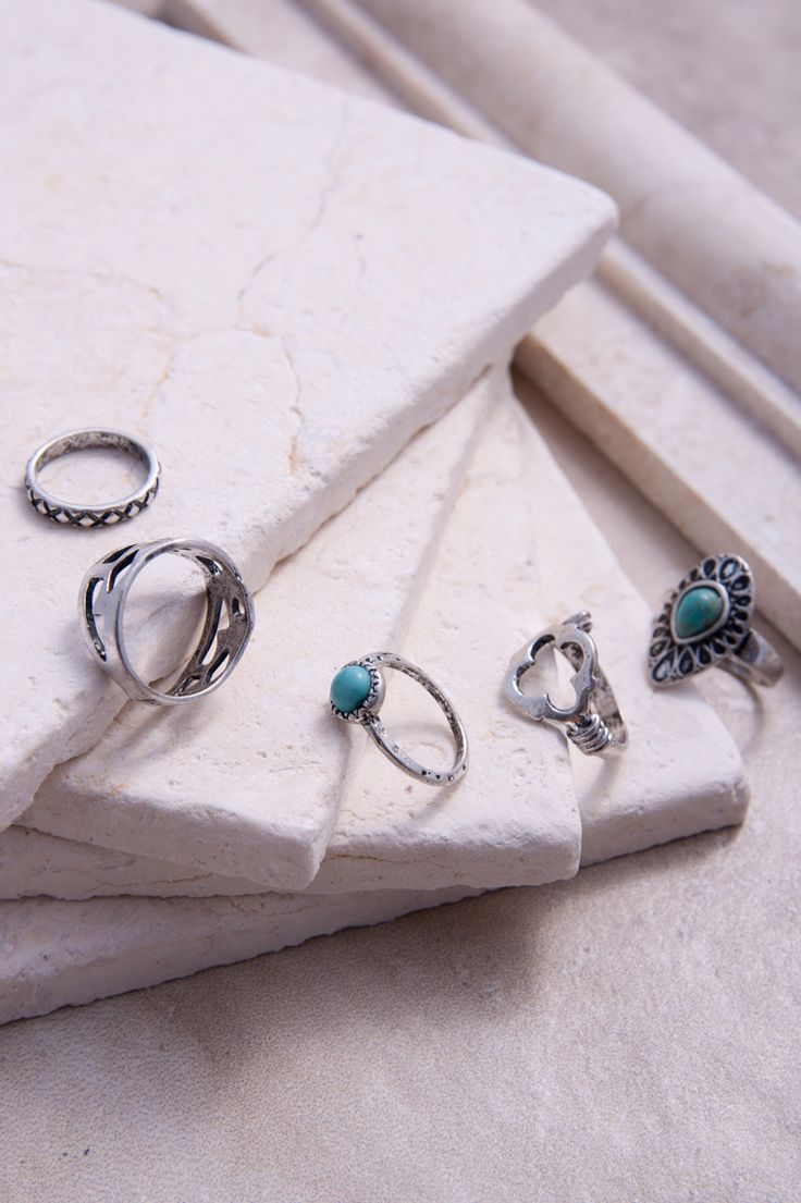 These beautiful rings would be perfect for practically any summer clothing piece