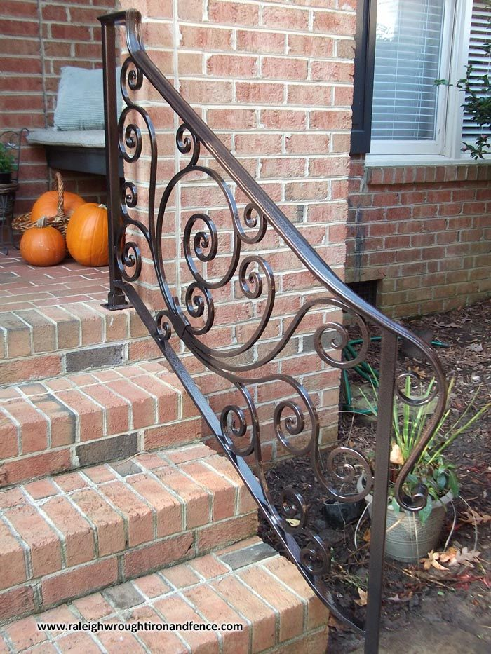 Best 25 wrought iron stairs ideas on pinterest - Wrought iron handrails for exterior stairs ...