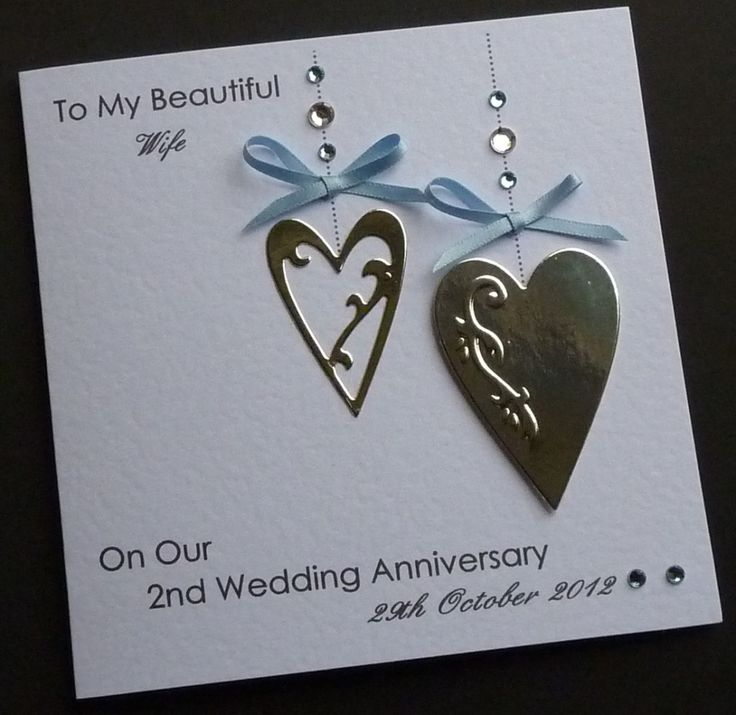 handmade personalised anniversary card  wifehusband
