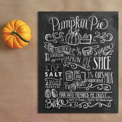 Pumpkin Pie Recipe - Print - Lily & Val