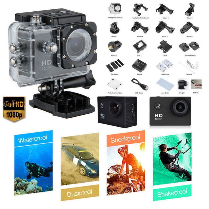 ACTION SPORT CAM WIFI PRO FULL HD DV 1080P SUBACQUEA WATERPROOF TELECOMANDO