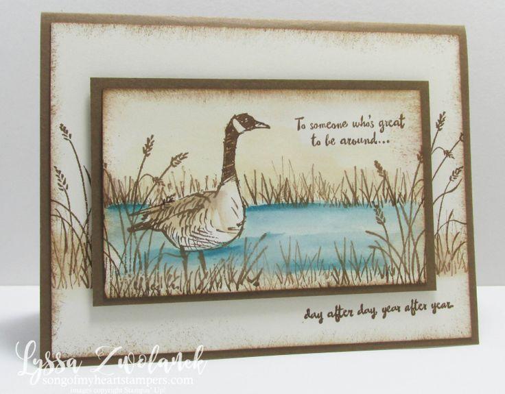 Wetlands Goose Geese Canadian Masculine Card Stampin Up Lyssa Zwolanek                                                                                                                                                                                 More
