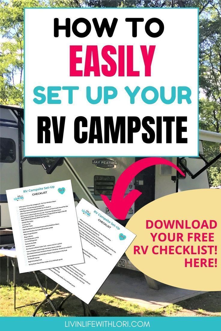 How To Easily Set Up Your Rv Campsite Travel Trailer Camping Rv