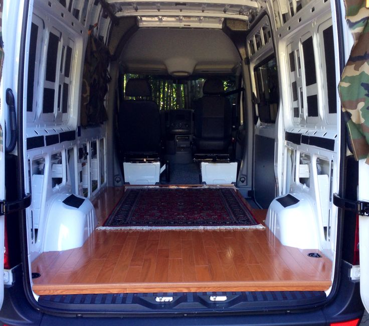Added Sound Dampening Strips To Roof And Sides As Well Under The Wood Floor For Sprinter Van ConversionCamper