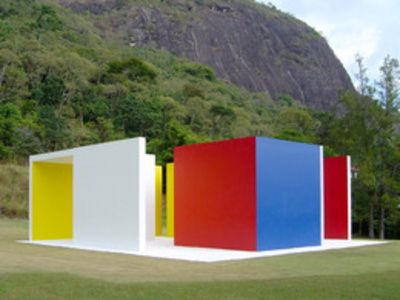 "Magic Square - Hélio Oiticica (Portuguese: [ˈε.lju ɔj.tʃi.ˈsi.ka]; July 26, 1937 – March 22, 1980) was a Brazilian visual artist, best known for his participation in the Neo-Concrete Movement, for his innovative use of color, and for what he later termed ""environmental art"", which included Parangolés and Penetrables, like the famous Tropicália."
