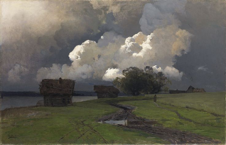 "russian-painting: ""Isaac Ilyich Levitan - In the vicinity of the Savvino-Storozhevsky monastery, 1880s. """
