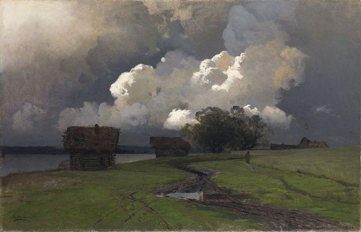 "russian-painting: ""Isaac Ilyich Levitan - In the vicinity of the Savvino-Storozhevsky monastery, 1880s. """