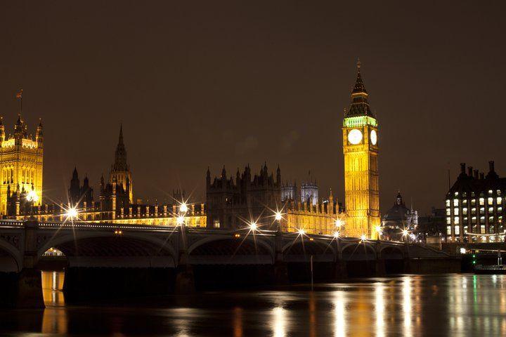 Londra Istantanea Luci Big Ben Tamigi