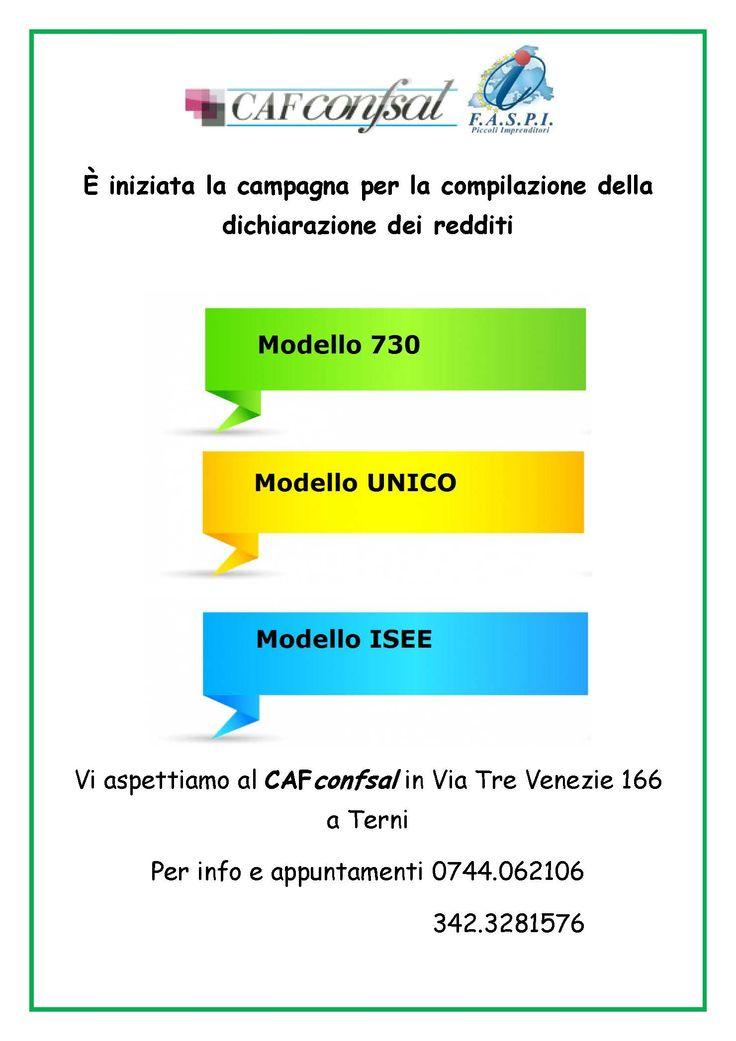 #cafconfsal #terni #dichiarazionedeiredditi2015