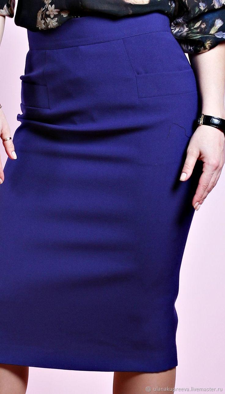 Юбка из шерсти (синяя) – купить в интернет-магазине на Ярмарке Мастеров с доставкой