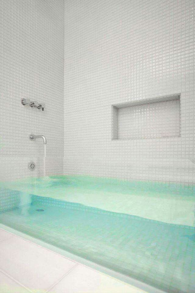 I would fill this Glass Bathtub with Lush bath bombs & fresh flowers...ahhhh