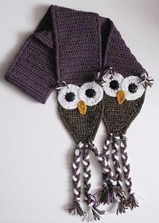 Crochet Owl Scarf Patter Free. By Ochre Pome