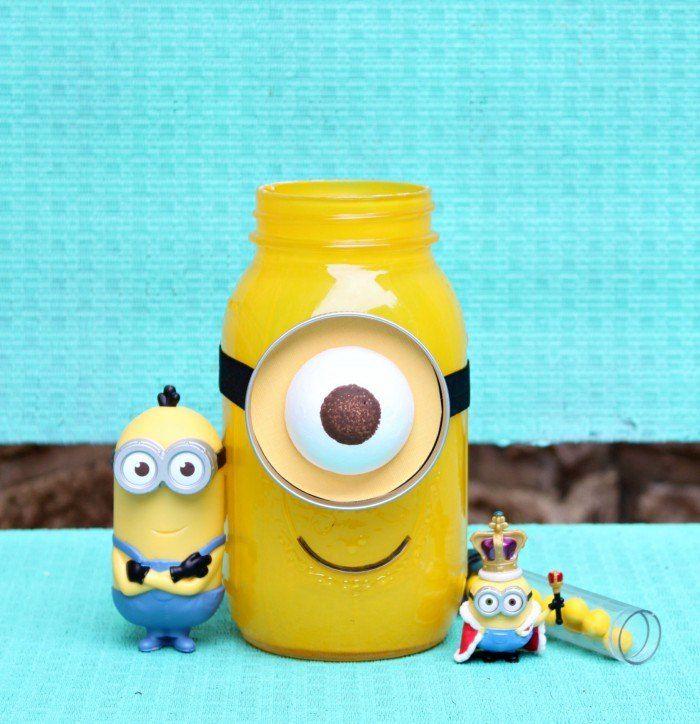 Minion Mason Jar  I have a real live minion in my house.