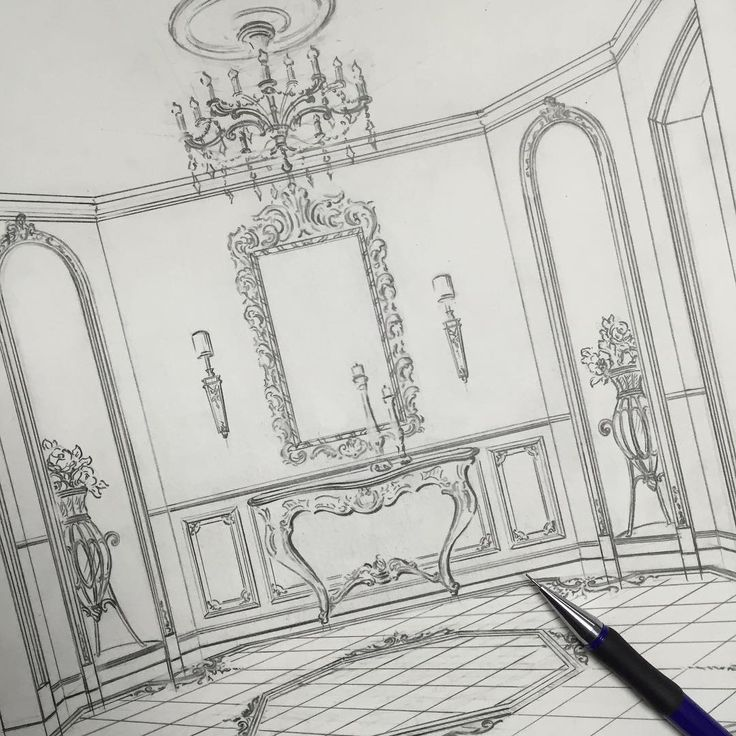 Sketch villa hall art drawing artist sketch paper