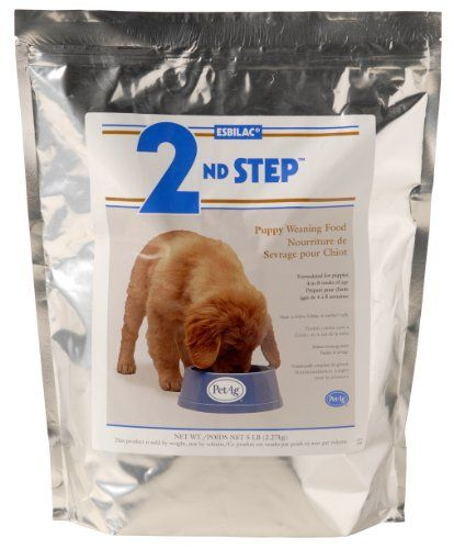 $30.75-$39.99 Esbilac® 2nd Step® Puppy Weaning Formula Powder is a highly digestible & complete food for young growing puppies. Esbilac® 2nd Step® is a transitional food specifically developed to assist puppies in moving from mother's milk to solid food. Can be mixed with Esbilac® Puppy Milk Replacer Formula for an even easier transition. Esbilac® 2nd Step® helps bridge puppies to the next stage  ...