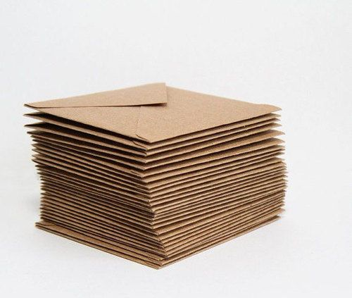 20 x PREMIUM RECYCLED KRAFT CARD ENVELOPES Natural Brown Christmas/Wedding. 50 kr for 40 konvolutter A7, fra England