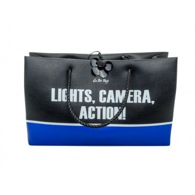 "LE #PANDORINE - Borsa SA.BO SQUAT ""Action..."" in pvc opaco - Nero - Elsa-boutique.it <3"