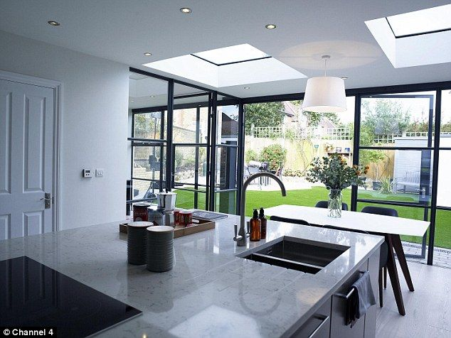 In order to complete the renovation the couple went £80,000 over budget from their origina...