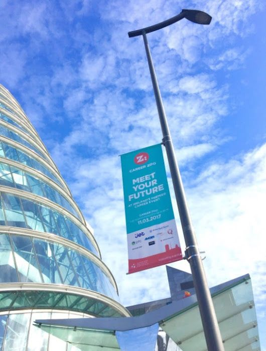 Career Zoo Dublin Lamppost Banners at the Convention Centre.  +Dublin City Co...