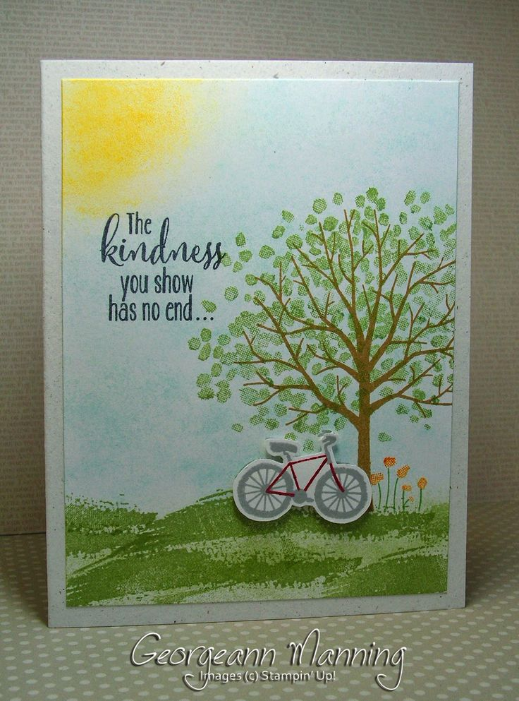 Georgeann Manning: Stampin' Everything – Sheltering Tree - 2/11/15 (SU 2015 Occ.) (Pin#1: Nature: Trees. Pin+: Bicycles)