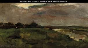 Zomerregen A polderlandscape in grey weather - George Hendrik Breitner