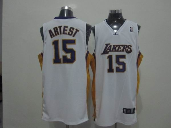 ... Sale NBA Pinterest Los angeles lakers and Lakers 15 Ron Artest White Embroidered  NBA Jersey! 8a05219f9
