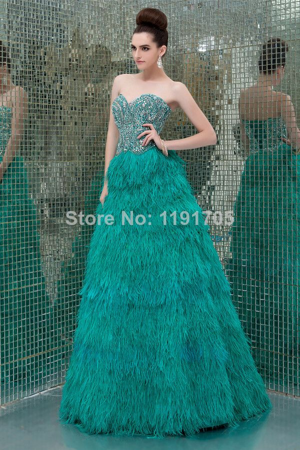 Free shipping Elegant Sweetheart Strapless Beading Green Prom dress 2014 Ball Gown Floor Length Evening Gowns 2014 New Style $189.00