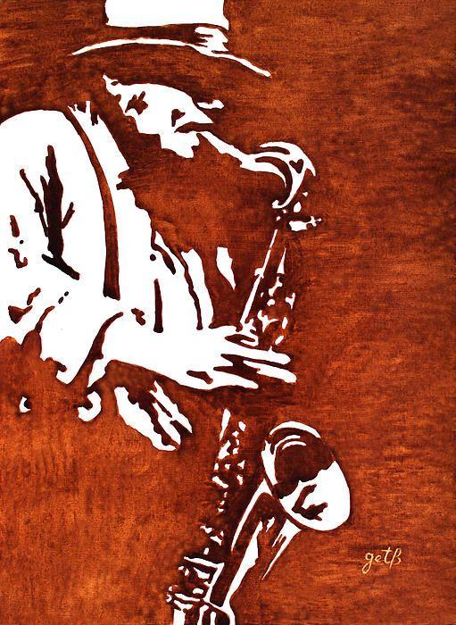 Jazz Saxofon Player by Georgieta Blanaru