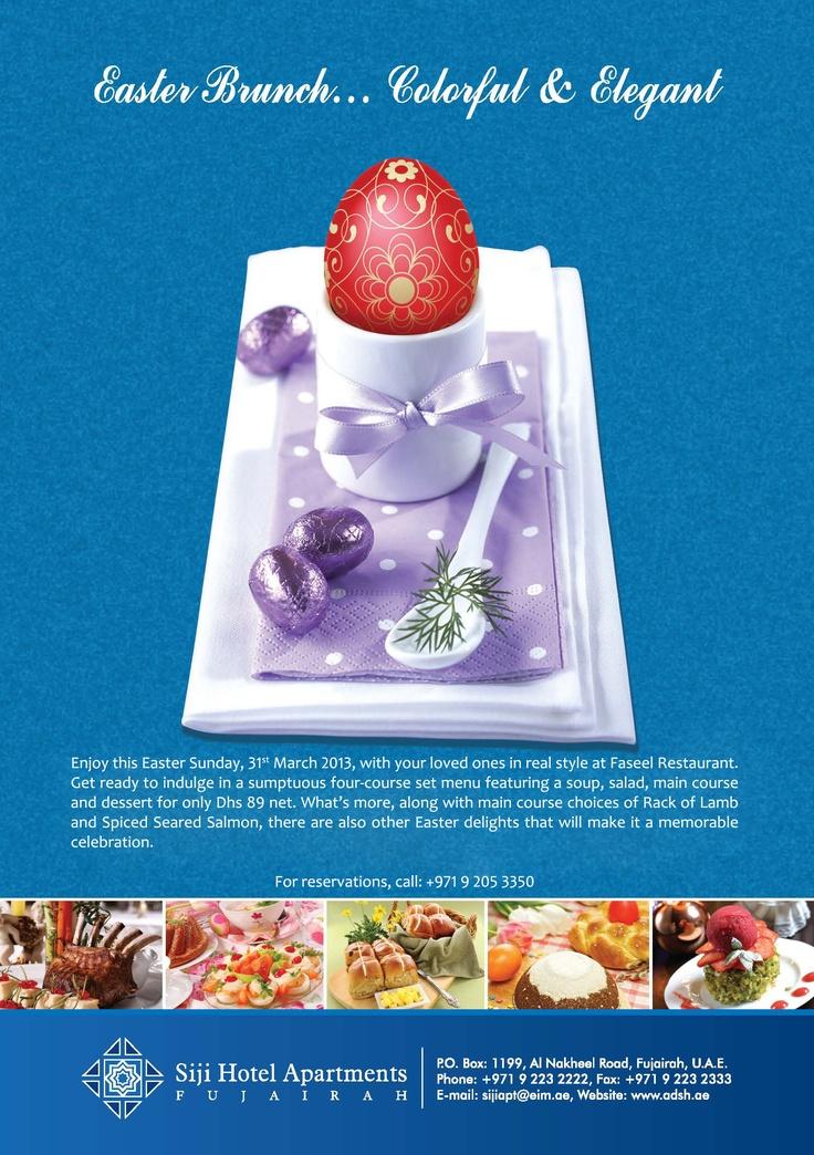 Easter Brunch Celebrations at Al Diar Siji Hotel Apartments, Fujairah!!