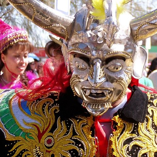 Every July 16th the small village of La Tirana in Tarapacá Region of northern Chile literally bursts at the seams as the usual population of less than 600 swells to over 200,000 in aid of the annual festival, Fiesta de la Tirana.