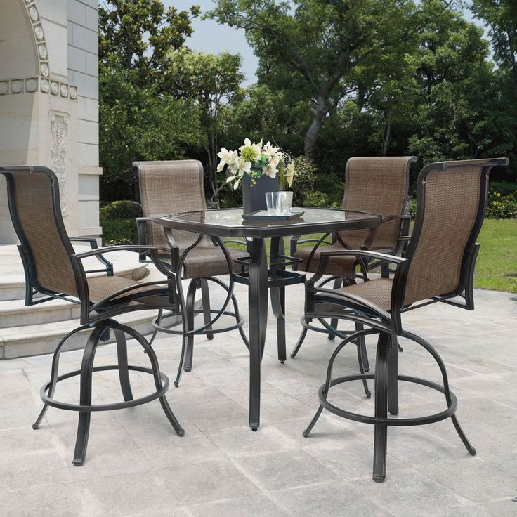 Patio Logic Garden Point 5 Pc Balcony Height Dining Set Dining View