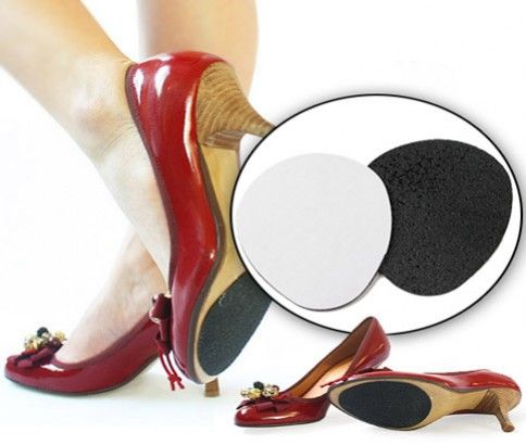5 Pairs of Non-Slip High Heel Traction Pads. It's made with high quality anti-skid material. Just $12.00.