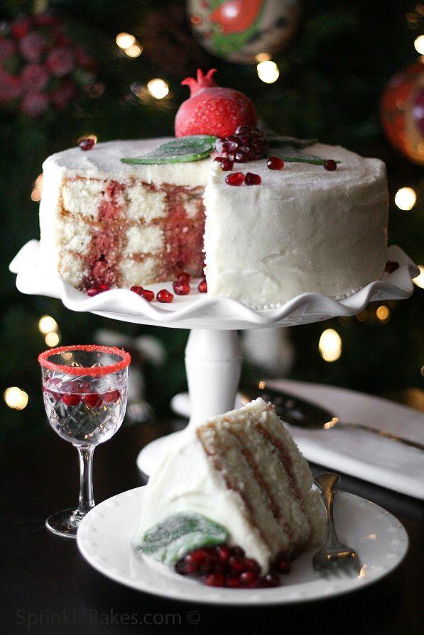 Pomegranate Christmas Cake - Cake Pans