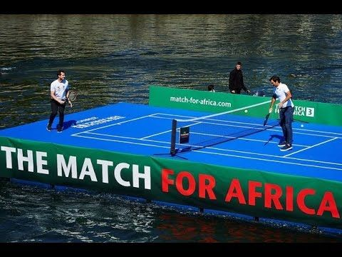 Andy Murray returns to take on Roger Federer on a FLOATING tennis court