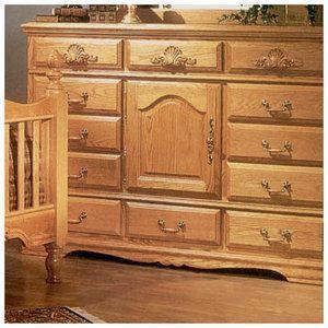High Quality Bebe Furniture Country Heirloom 12 Drawer Oversized Dresser