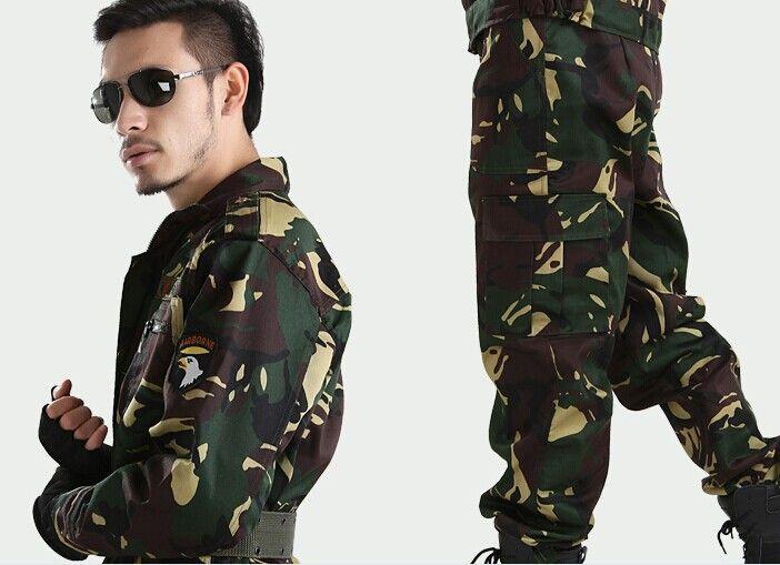 Армии сша военная форма для мужчин мужской открытый джунгли камуфляжной униформе боевых удовлетворить фрок костюмы охотник военная одежда S-XXL