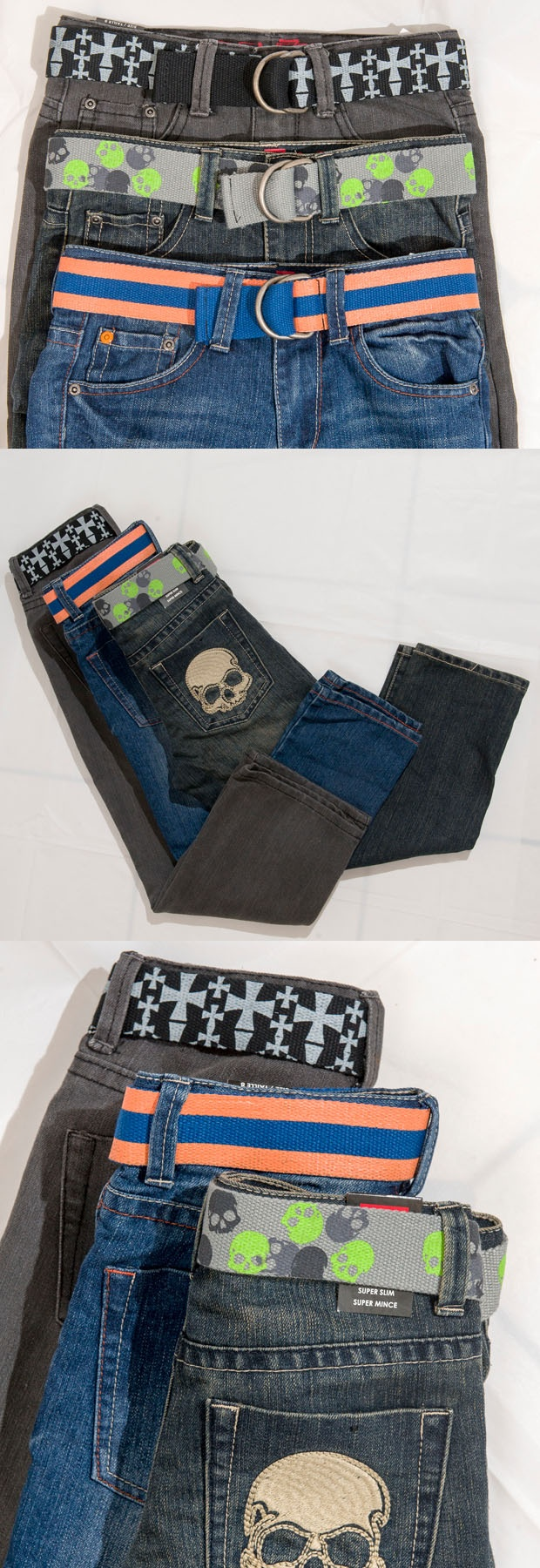 RETRO COOL: Boys denim jeans with belts by Extreme Zone, $29.99 at Sears.com (Available in sizes 7-16). Enter to win a $ 500 shopping spree with @TheProvince and Brentwood Town Centre: http://theprov.in/pinandwin #backtoschool