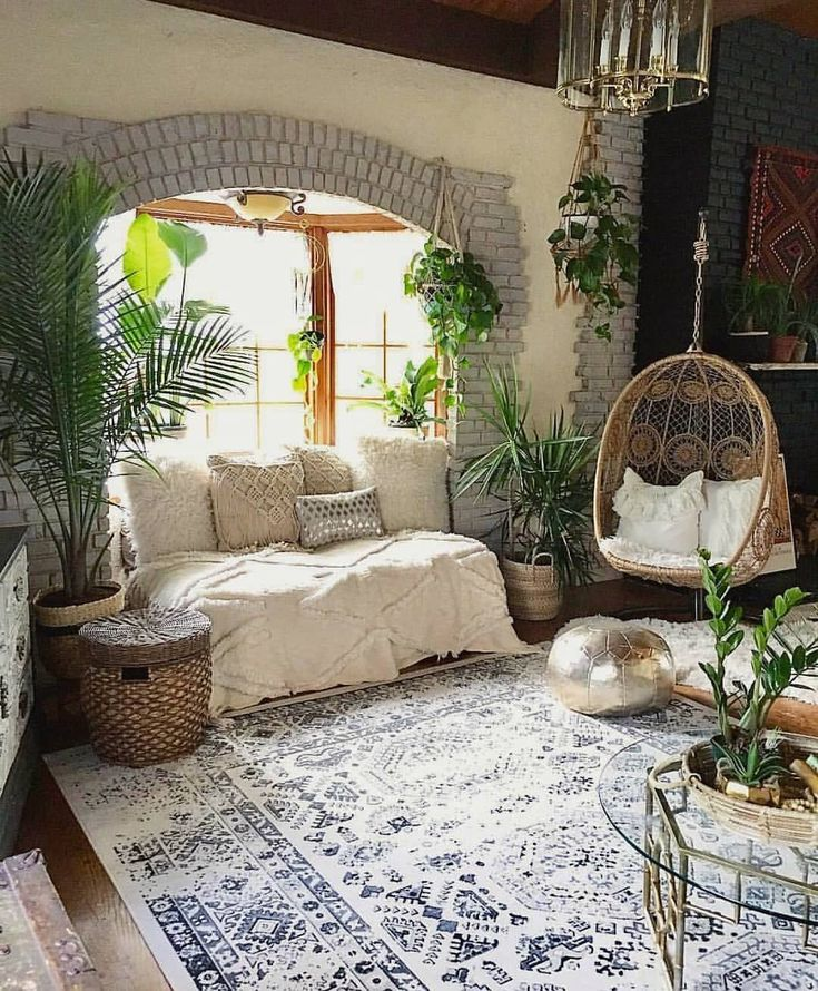 "1,224 Likes, 19 Comments - @bohemian.home on Instagram: ""Think this room will cure every mondayblues pic:@blissfully_eclectic"""